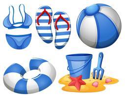 Set di elemento spiaggia
