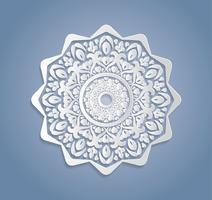 Carte o inviti con mandala pattern.Vector vintage disegnati a mano elementi altamente dettagliati mandala. Carta pizzo ornamento di lusso di lusso. Islam, arabo, indiano, turco, ottomano, motivi del Pakistan. vettore