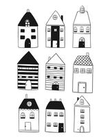La casa in stile europeo è unica e bellissima vettore