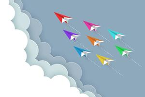 concetto di aeroplano di carta vettore