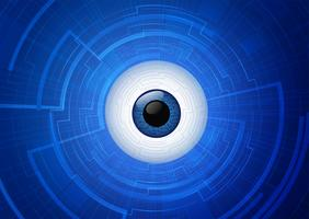 concetto di comunicazione tecnologia occhio astratto. vettore
