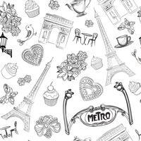 Viaggi Parigi senza cuciture. Carta da parati di vacanza in Europa.
