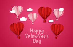 amore Invito carta San Valentino sfondo astratto. Biglietto di auguri, Design piatto Amore felice. può essere aggiunto testo illustrazione vettoriale
