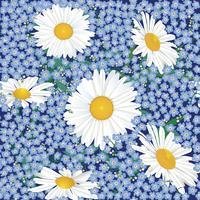 Motivo floreale senza soluzione di continuità. Sfondo di fiori vettore