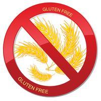 Icona senza glutine. Nessun segno di pane. Divieto di simbolo alimentare ipercalorico