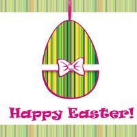Segno dell'uovo di Pasqua. Sfondo cartolina d'auguri di Pasqua. Simbolo religioso