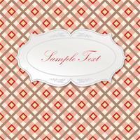 Cornice ovale. Seamless pattern tartan Sfondo geometrico quadrato
