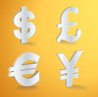 icone vettoriali di valuta