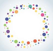 Priorità bassa rotonda variopinta astratta del cerchio vettore