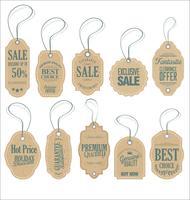 Progettazione di etichette di vendita stile vintage