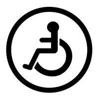 bagno per persone con disabilità, bagno per disabili, segnaletica per bagno vettore