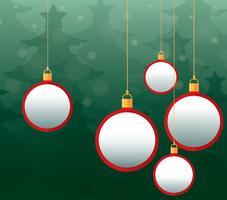 Sfondo di palle di Natale