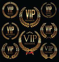 Collezione di badge dorato membro VIP