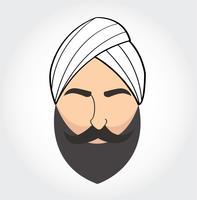 Simbolo degli uomini arabi, icona di vettore arabo