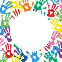 Sfondo astratto con stampe colorate a mano