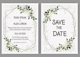 Invito a nozze, invito, salva il design della carta data con elegante anemone color lavanda.