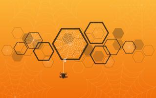 Web di ragno Fondo di Halloween, illustrazione EPS10 di vettore del fondo di web della ragnatela