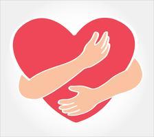 abbraccia il cuore vettore