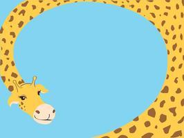 vettore del fondo del fumetto della giraffa