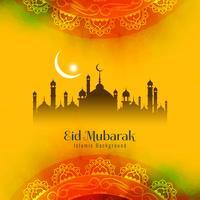 Astratto sfondo religioso Eid Mubarak islamica