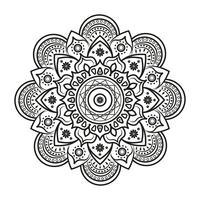 Mandala adorabile per libri da colorare per adulti