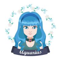 Illustrazione del segno zodiacale - Acquario vettore