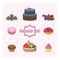 Raccolta di dolci vettore