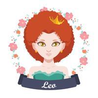 Illustrazione del segno zodiacale - Leone