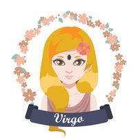 Illustrazione del segno zodiacale - Vergine vettore
