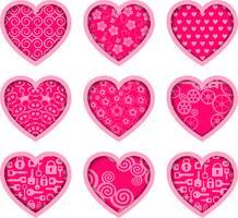 Icone di San Valentino vettore