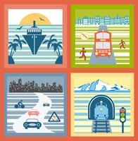 Paesaggi colorati vettore