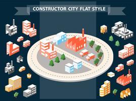 Costruttore urbano vettore
