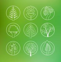 Disegno lineare di alberi vettore
