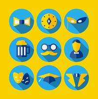 Varie icone in stile piatto vettore