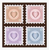 Vecchi francobolli vettore
