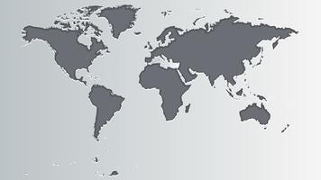 Mappa del mondo grigio vettore
