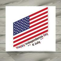 felice giorno dell'indipendenza illustrazione con bandiera americana vettore