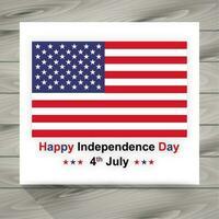 illustrazione del giorno dell'indipendenza con la bandiera americana vettore
