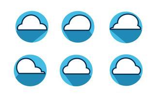 Vettore dell'icona della nuvola, illustrazione di vettore. Stile di design piatto