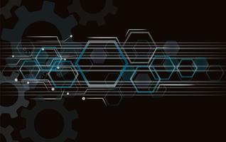Ingranaggio e tecnologia linea spazio astratto vettore
