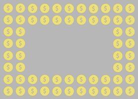 moneta, design di denaro e lo sfondo dello spazio