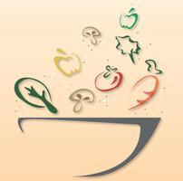 simbolo di design ciotola di insalata