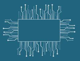 sfondo della linea tecnologia microchip box vettore
