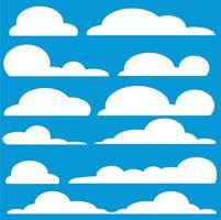 vettore di arte del fumetto nuvola