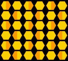 fondo pastello del fumetto di esagono dell'alveare dell'ape vettore