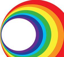spazio e arcobaleno cerchio sullo sfondo vettore