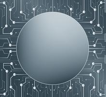 linea tecnologia e lo spazio centrale sullo sfondo del cerchio