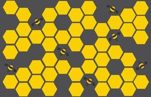 esagono bee hive design art e lo spazio sullo sfondo