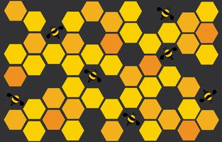 esagono bee hive design art e lo spazio sullo sfondo vettore