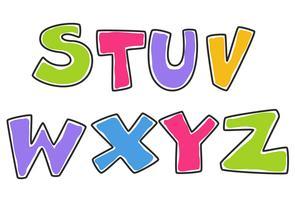 Alfabeti colorati per bambini parte 3 vettore